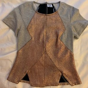 Metallic / grey contrast top from LF